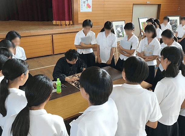 人権同和教育講演会 松山市立拓南中学校