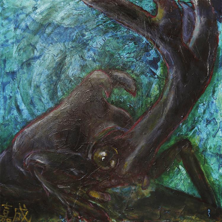 森の奥のカブトムシ
