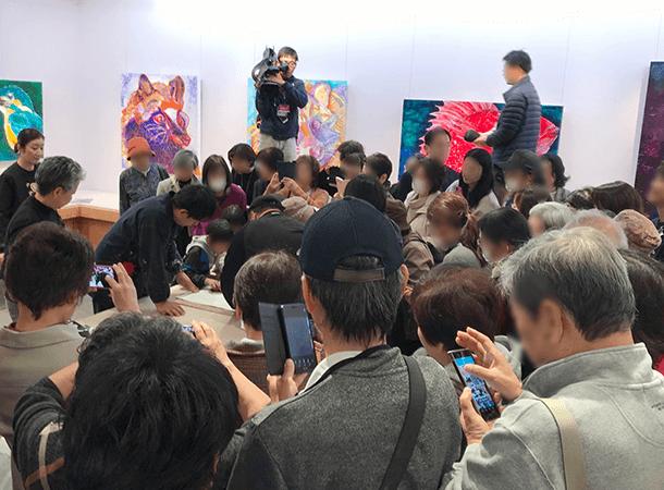 11月23日(土・祝) 髙島屋さんでのトークショーとライブドローイング。