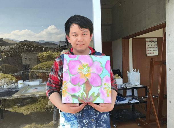 キャンバス画:桜の花