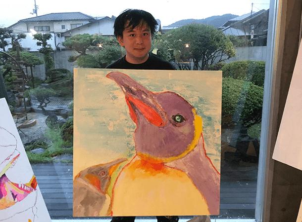 キャンバス画:キングペンギン