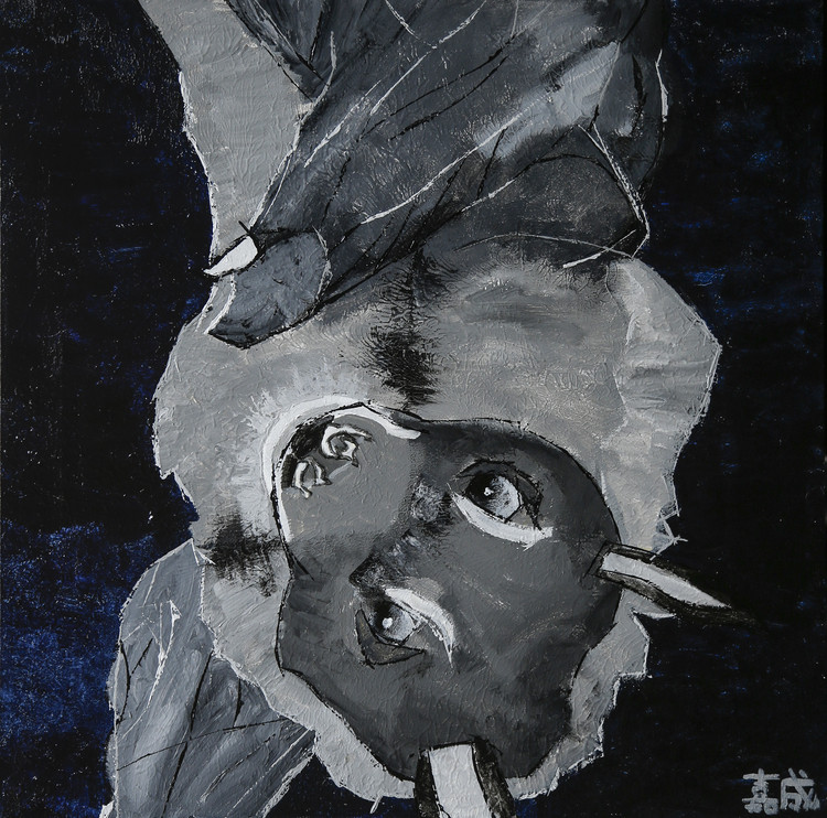 夜の森のインドオオコウモリ
