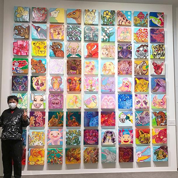 丸亀美術館の個展もあと1日になりました。