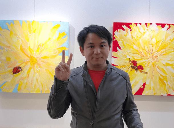 いよてつ髙島屋さんで、ぼくの作品を展示してくれています。