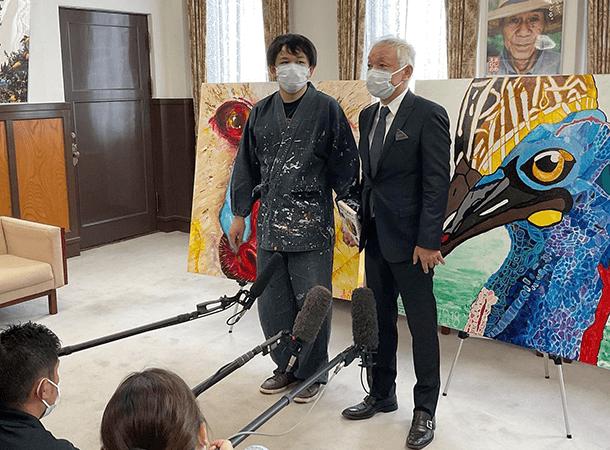 中村愛媛県知事を表敬訪問しました。